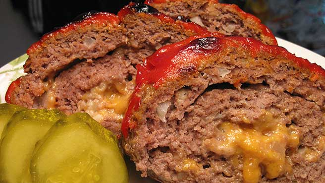 Paleo Da Beef Lover's Half Time Stuffed Meatloaf