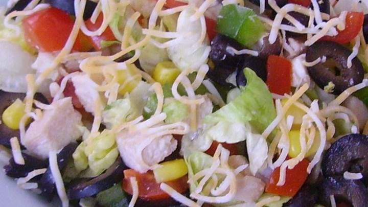 Paleo Super Tex-Mex Chicken Chop Salad