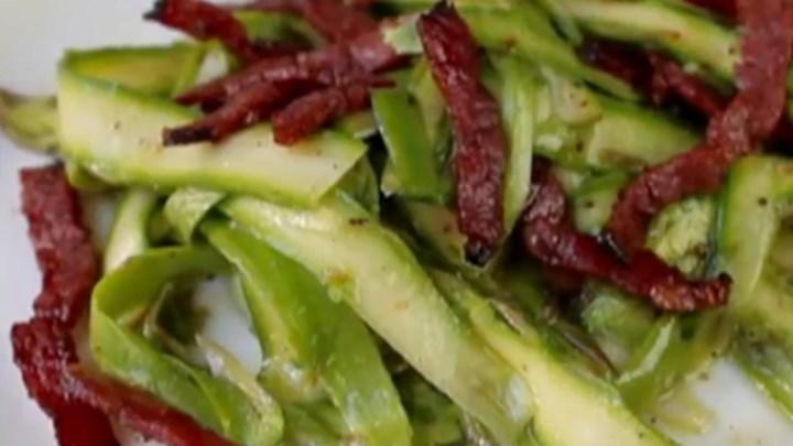 Paleo Chef John's Shaved Asparagus Salad