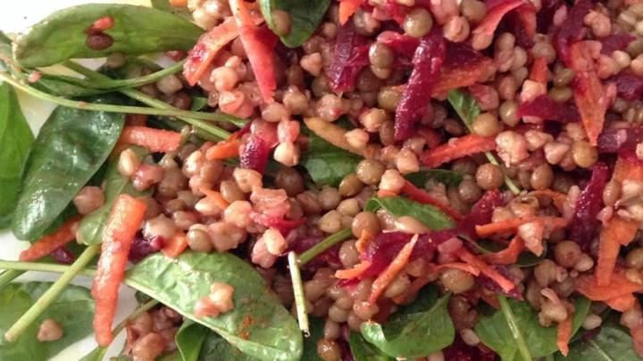 Paleo Lentils and Buckwheat Salad To Go (Gluten-Free)