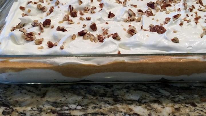Paleo Thanksgiving Pumpkin Slush Cake