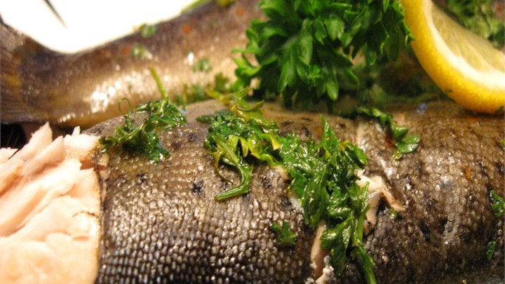 Paleo Foil Barbecued Trout with Wine