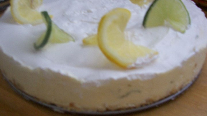 Paleo Daiquiri Chiffon Cheesecake with Pretzel Crust
