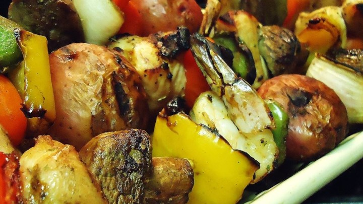 Paleo Tangy Almond Chicken Kabobs