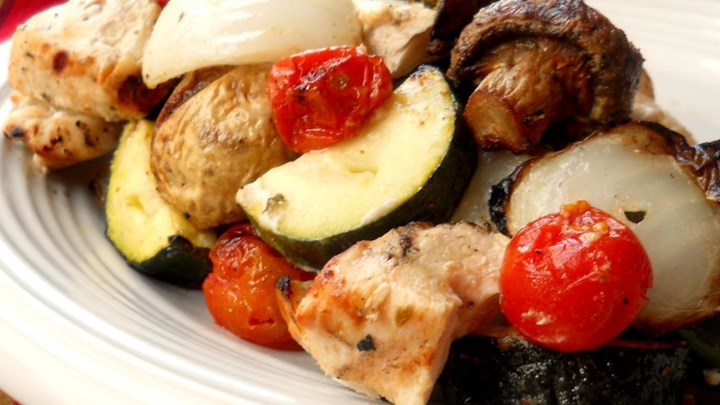 Paleo Greek Island Chicken Shish Kebabs