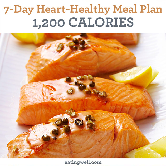 7-Day Heart-Healthy Meal Plan 1,200 Calories - EatingWell