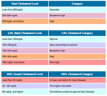 HDL (Good) vs LDL (Bad) Cholesterol Ratio, Levels, Chart  Numbers
