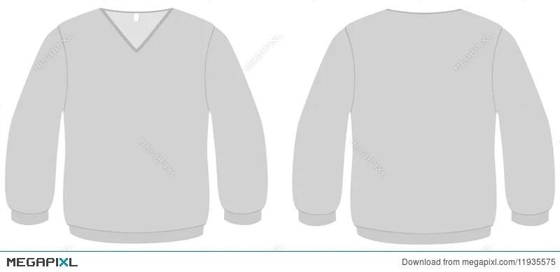 V-Neck Sweater Template Vector Illustration Illustration 11935575