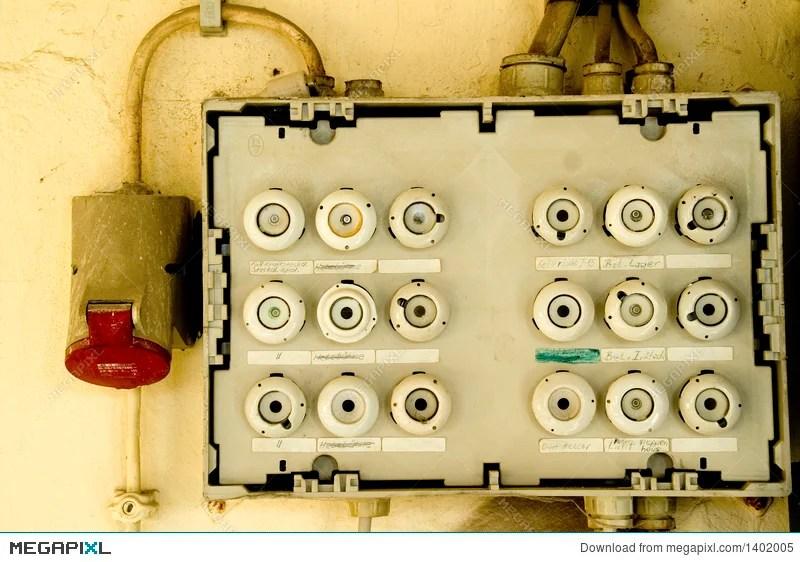 Old Fuse Box Stock Photo 1402005 - Megapixl
