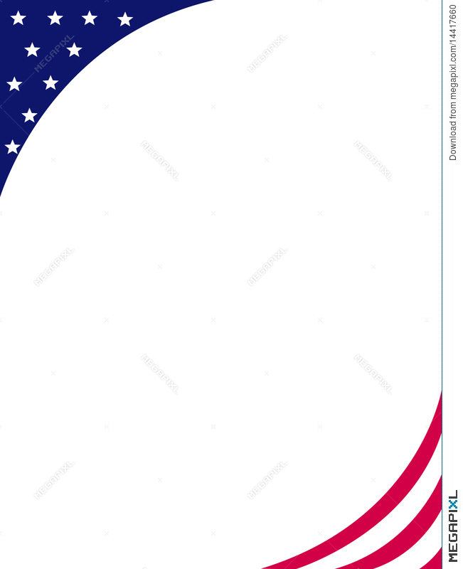 Red White And Blue Flyer Borders - Zorocreostories28+ Collection Of
