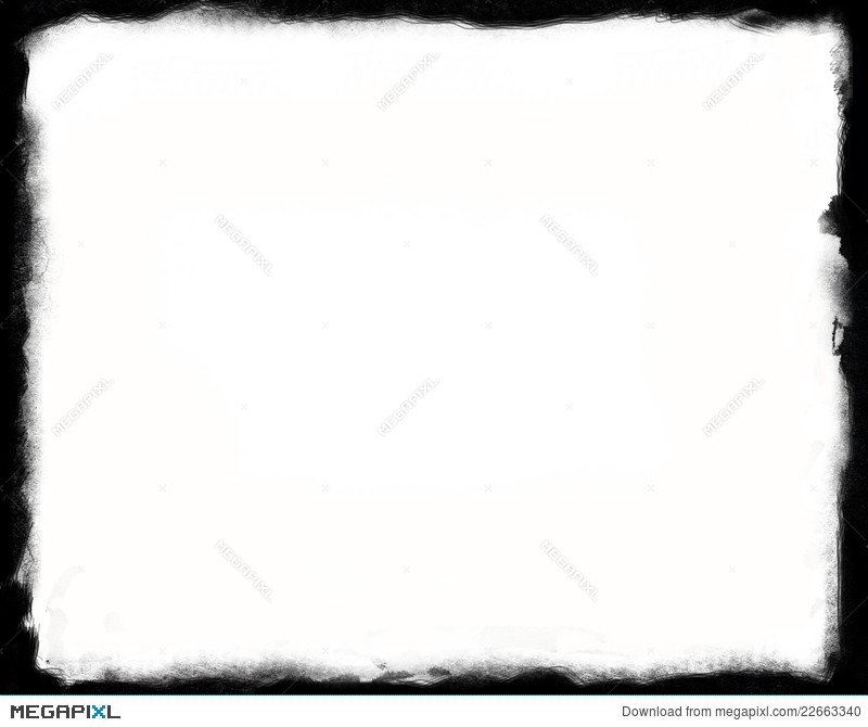 8X10 Unique Black And White Border Illustration 22663340 - Megapixl - black border background