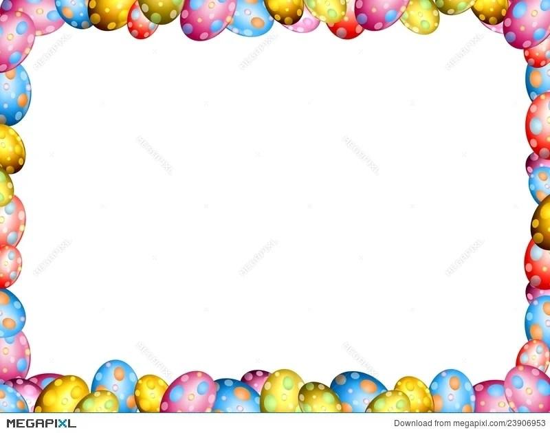 Easter Eggs Border Frame Illustration 23906953 - Megapixl