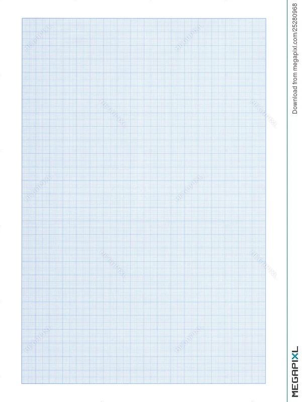 Graph Paper Background - Blue Color Stock Photo 25280968 - Megapixl