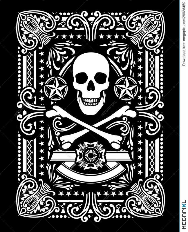 Ornate Pirate Playing Card Design Illustration 29926459 - Megapixl