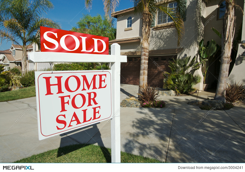 Sold Home For Sale Sign  Home Stock Photo 3004241 - Megapixl