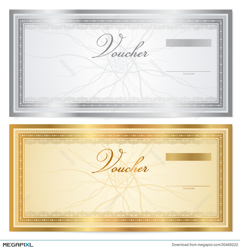 Vintage Voucher (Coupon) Template With Border Illustration 30466222 - money coupon template
