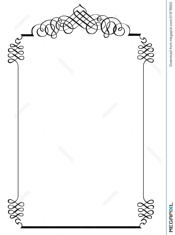 Fancy Page Border One Illustration 31678665 - Megapixl