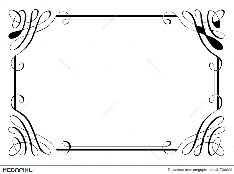 Fancy Page Border Four Illustration 31736629 - Megapixl