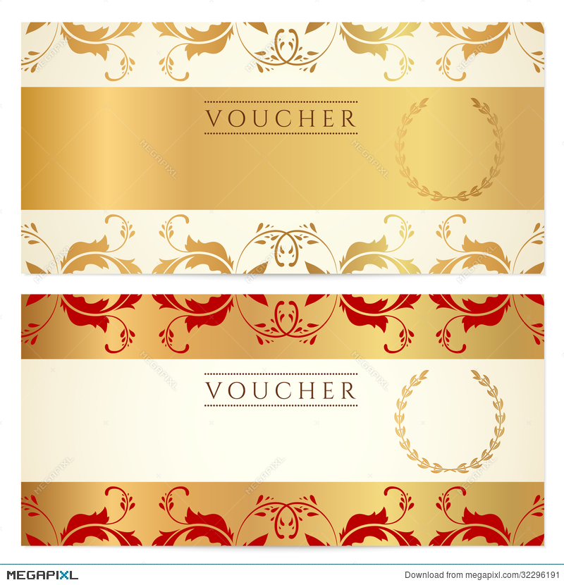 Gift Certificate (Voucher, Coupon) Template Illustration 32296191