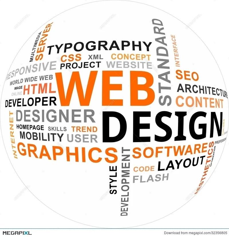 Word Cloud - Web Design Illustration 32356805 - Megapixl
