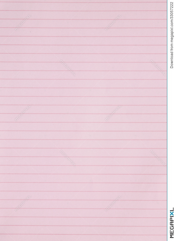 Blank Pink Lined Paper Background Or Textured Stock Photo 33057222 - line paper background