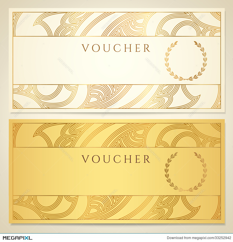 Voucher, Gift Certificate, Coupon Template Illustration 33252942