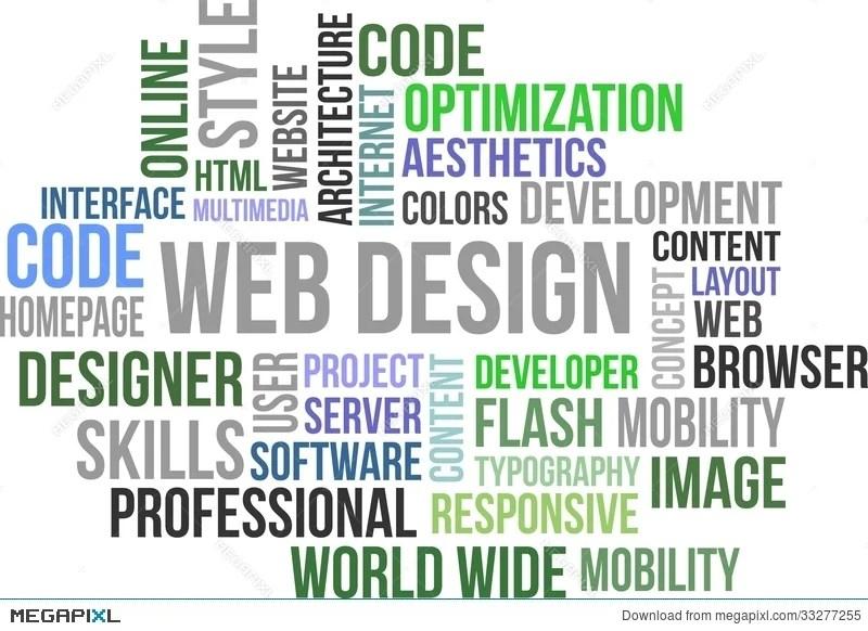 Web Design - Word Cloud Illustration 33277255 - Megapixl