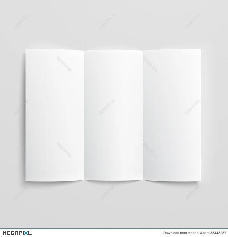 Blank Trifold Paper Brochure Illustration 33448287 - Megapixl