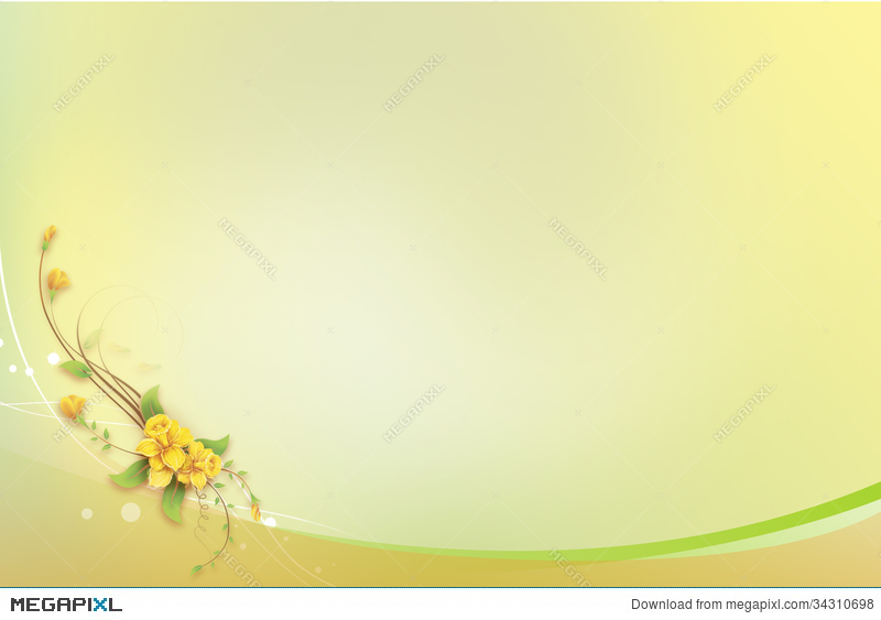 Yellow Invitation Card Background