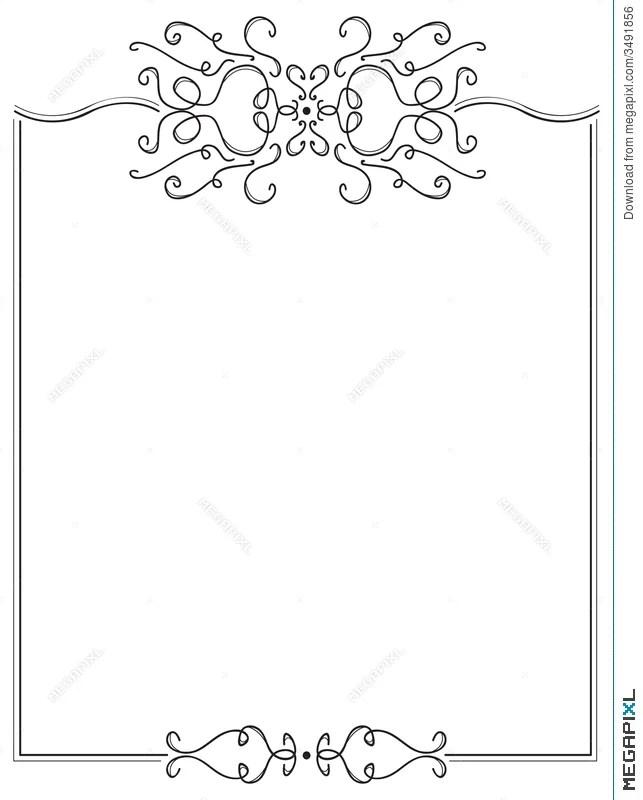 Fancy Page Border Illustration 3491856 - Megapixl