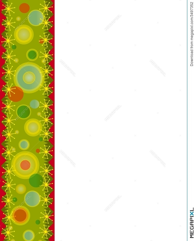 Retro Christmas Page Border Illustration 3497352 - Megapixl