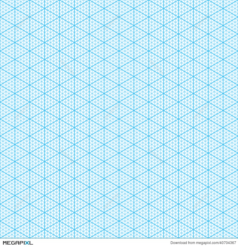 Isometric Graph Paper Illustration 40704367 - Megapixl