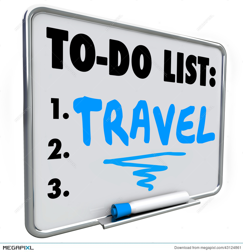 Travel To Do List Dream Vacation Wish Priorities Word Illustration