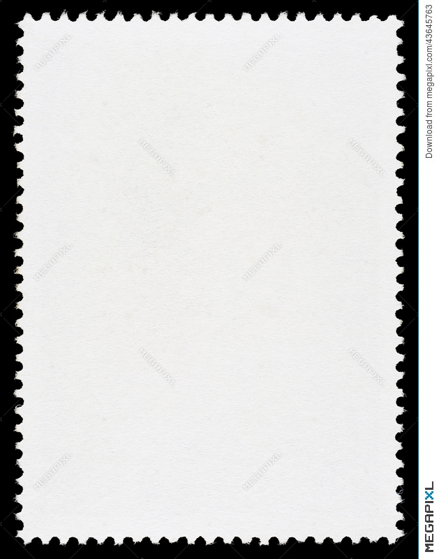 Blank Postage Stamp Template Stock Photo 43645763 - Megapixl - stamp template