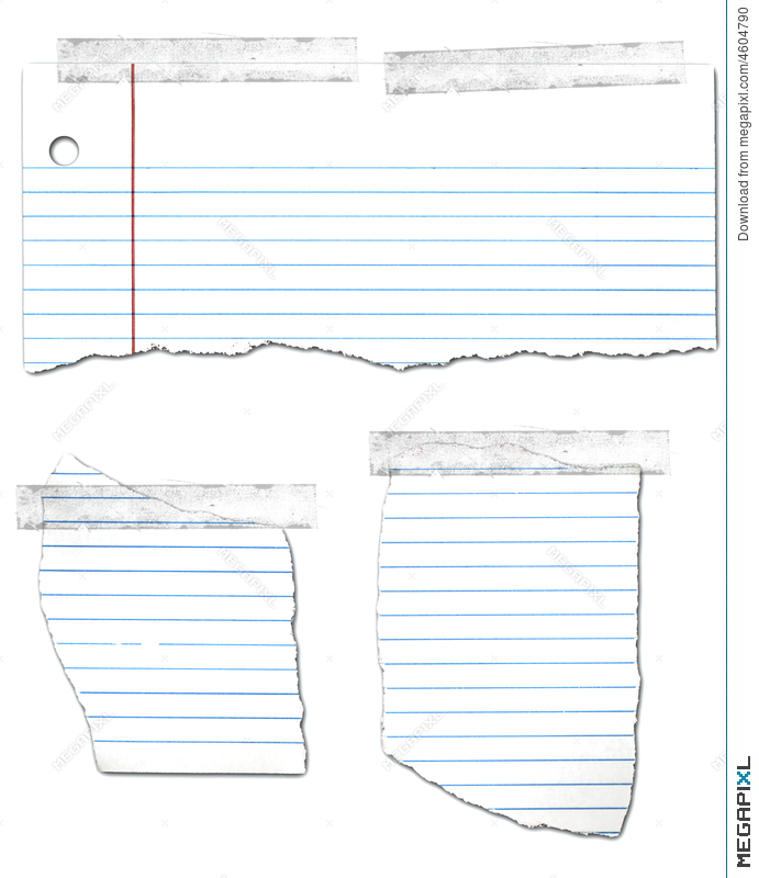 Ripped And Taped Looseleaf Paper Collection Illustration 4604790 - loose leaf paper background