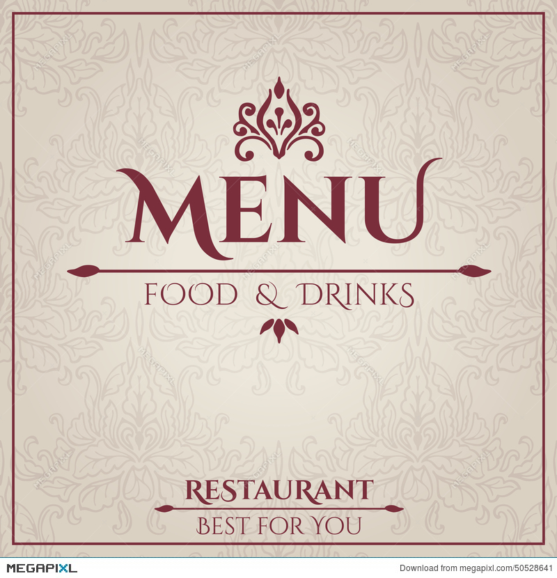 Elegant Restaurant Menu Design Illustration 50528641 - Megapixl