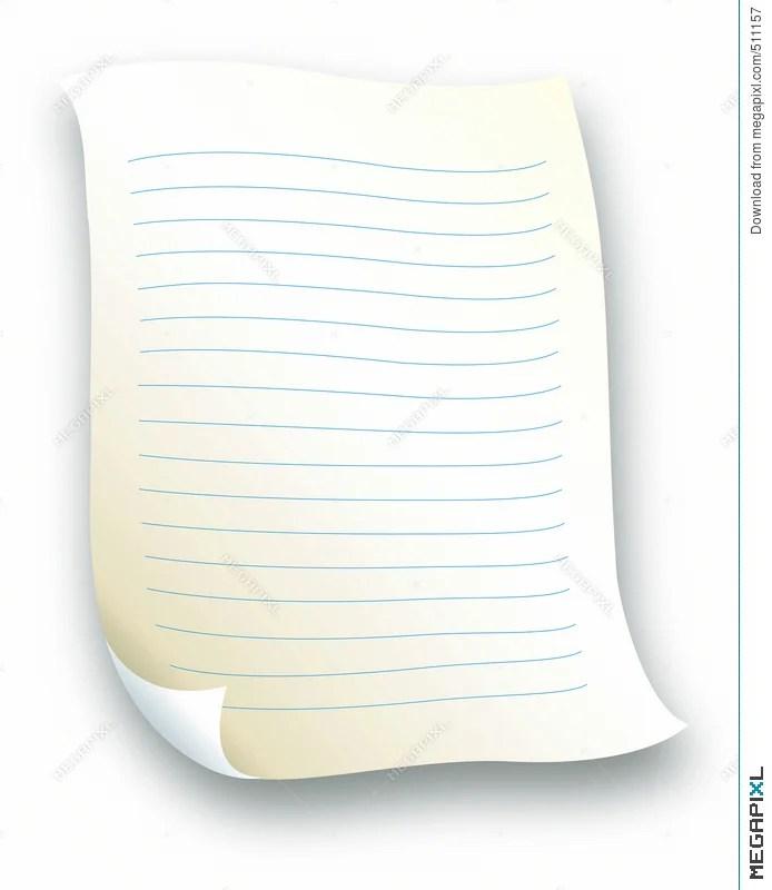 Lined Letter Paper Illustration 511157 - Megapixl