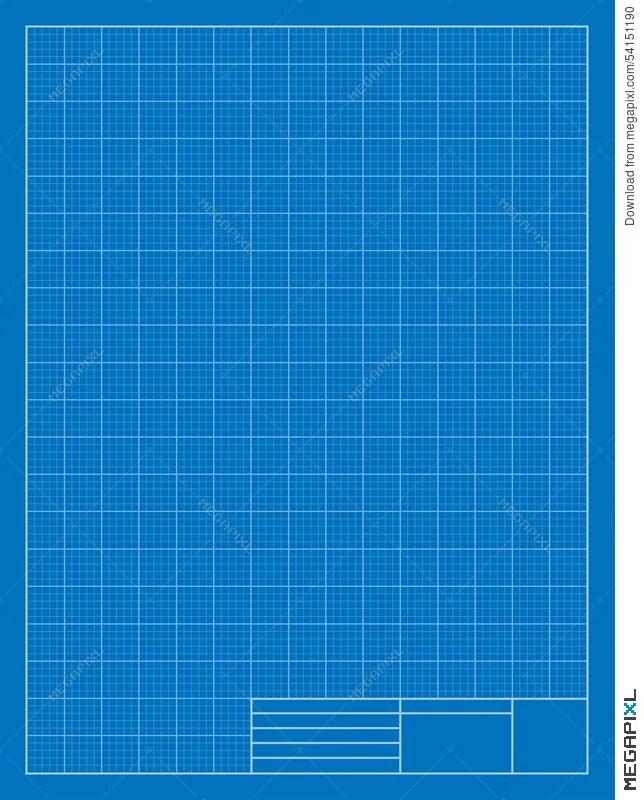 Vertical Drafting Blueprint, Grid, Architecture Illustration