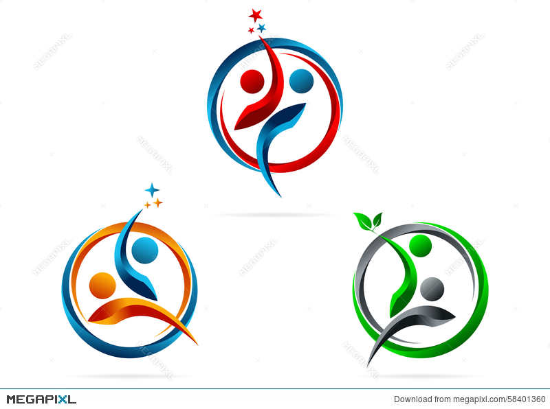 Partnership, Logo, Star, Success, People, Symbol, Healthy, Team