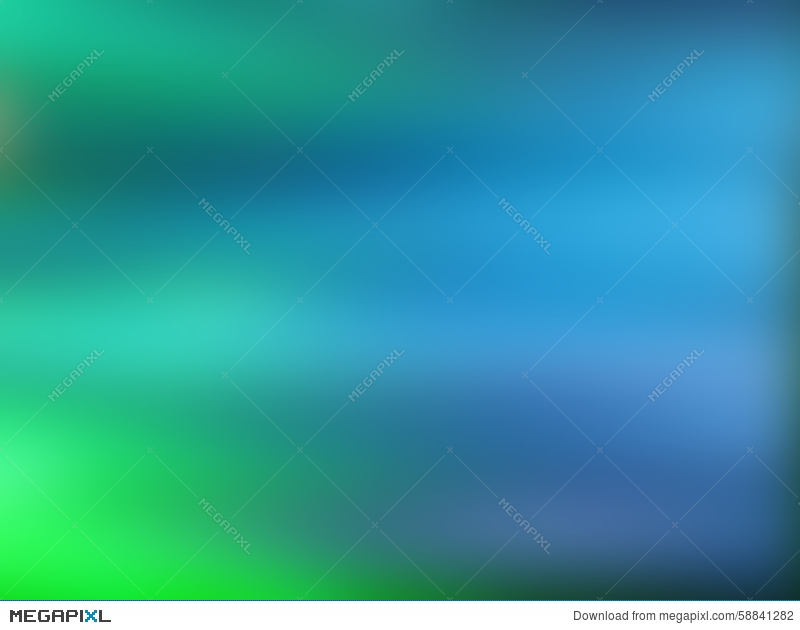Abstract Gradient Background With Blue And Green Colors Illustration