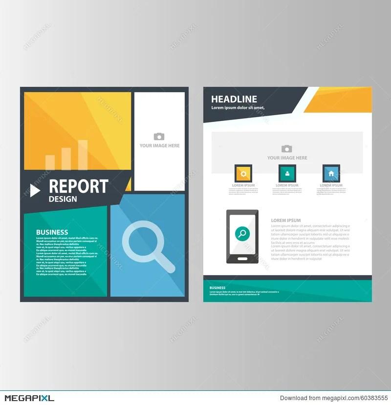 Blue Orange Green Annual Report Presentation Template Elements Icon