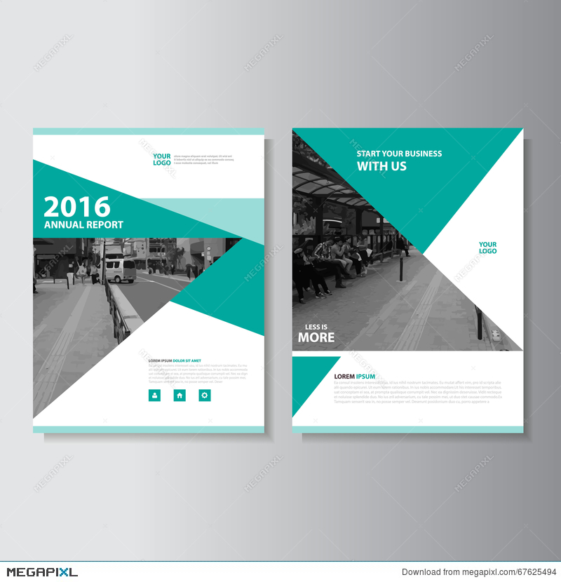 Green Vector Magazine Annual Report Leaflet Brochure Flyer Template - free design flyer templates