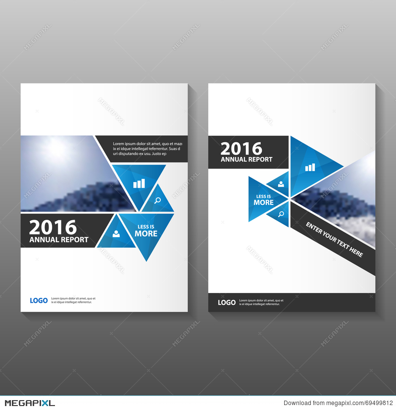 Abstract Black Blue Annual Report Leaflet Brochure Flyer Template - black flyer template