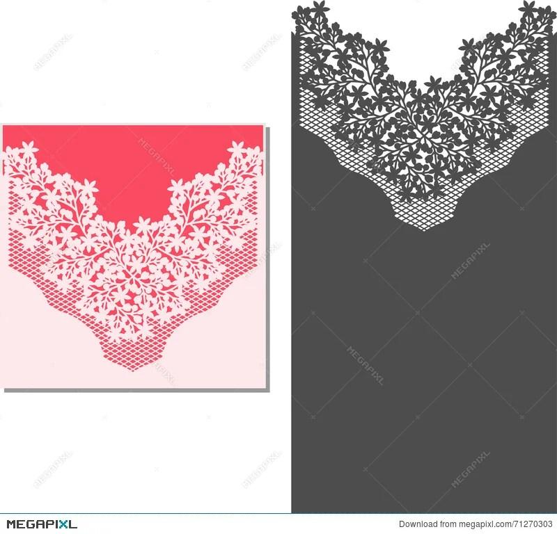 Laser Cut Envelope Template For Invitation Wedding Card Illustration