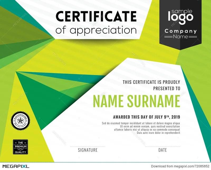 Modern Certificate Background Design Template Illustration 72085852
