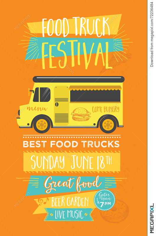 Food Truck Party Invitation Food Menu Template Design Food Fly - food truck menu template