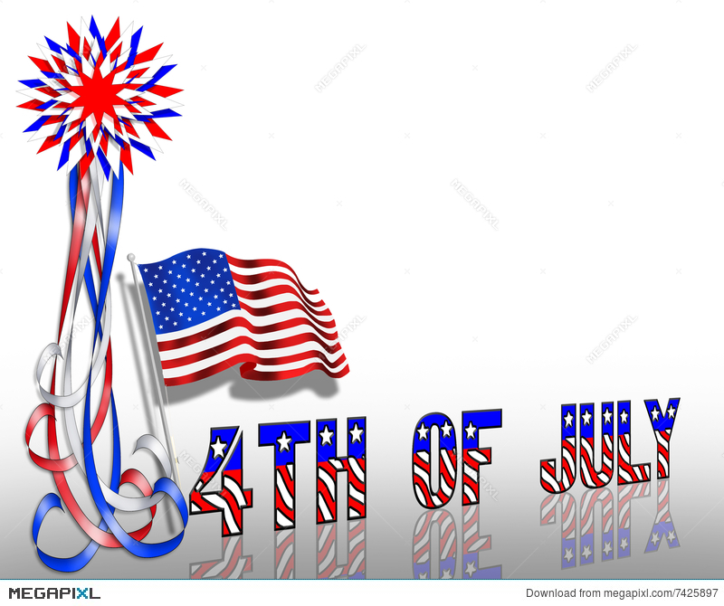 4Th Of July Patriotic Border Stars And Stripes Illustration 7425897