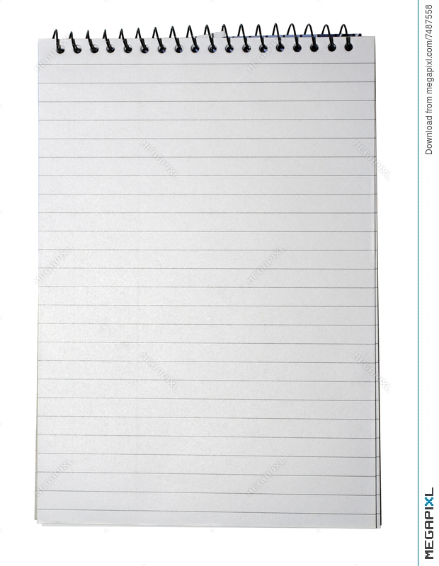 Notebook Lined White Paper Note Book Lines Texture Background Line