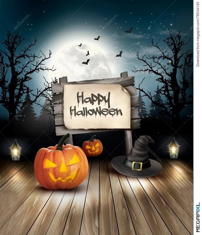 Halloween Spooky Background Illustration 78534145 - Megapixl