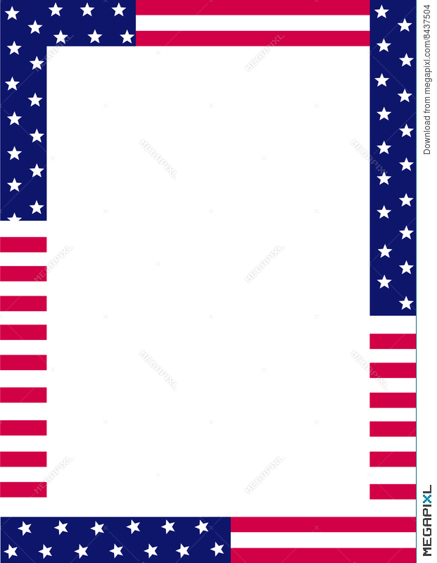 Patriotic Border Illustration 8437504 - Megapixl